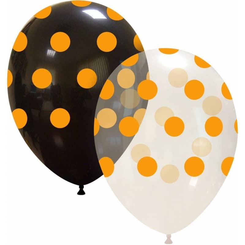 Palloncini stampa globo - grande pois arancio neon (edizione limitata)
