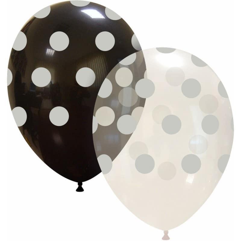 Palloncini stampa globo - grande pois argento (edizione limitata)