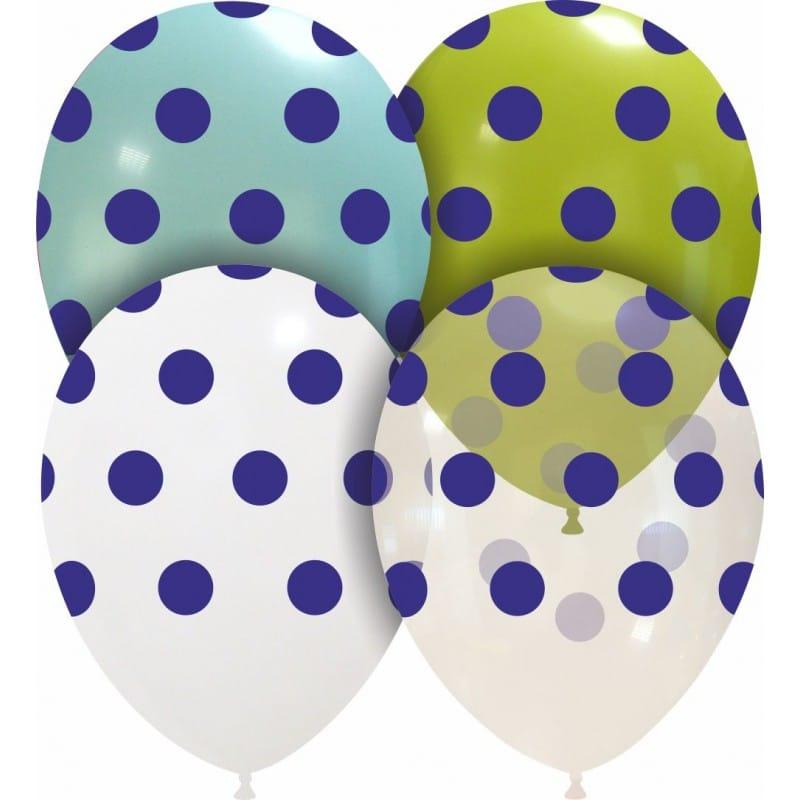 Palloncini stampa globo - grande pois blu (edizione limitata)