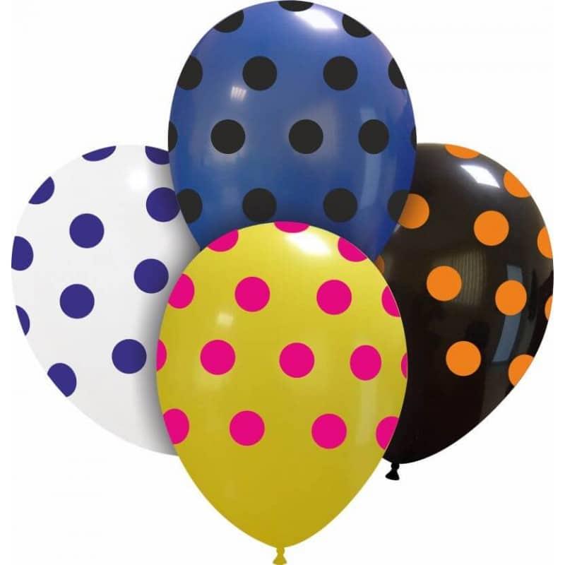 Palloncini stampa globo - grande pois mix (edizione limitata)