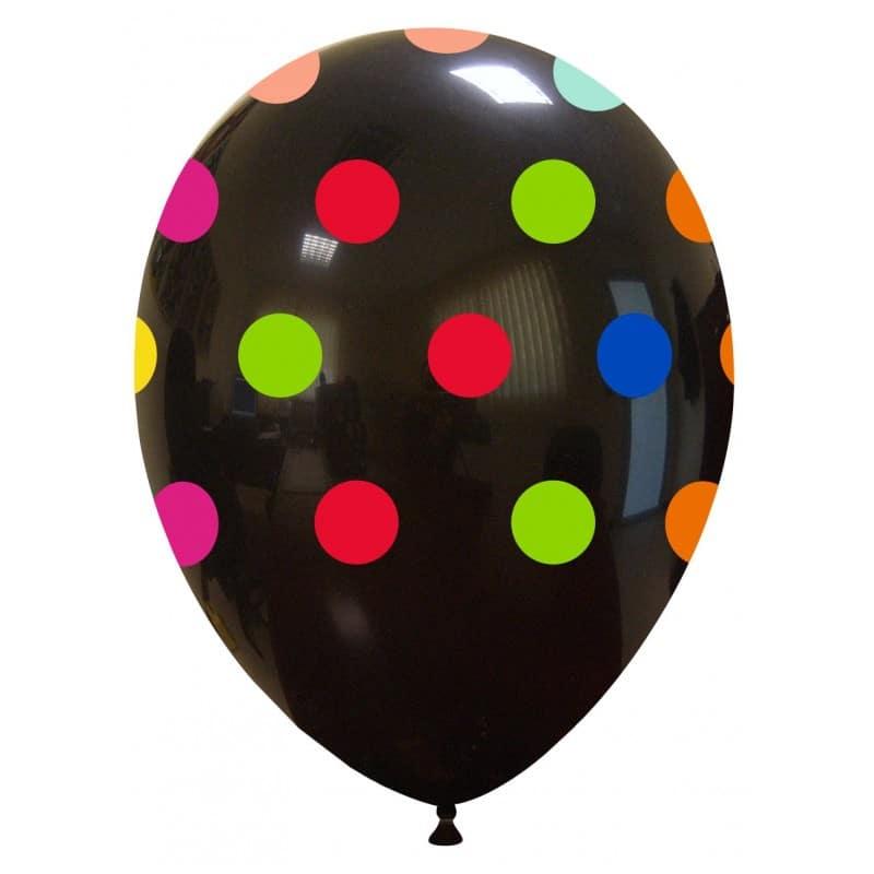 Palloncini stampa globo - grande pois (multicolor)