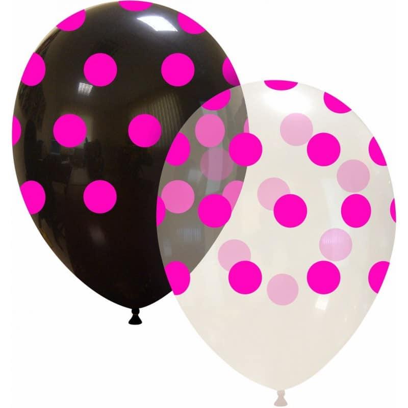 Palloncini stampa globo - grande pois rosa neon (edizione limitata)