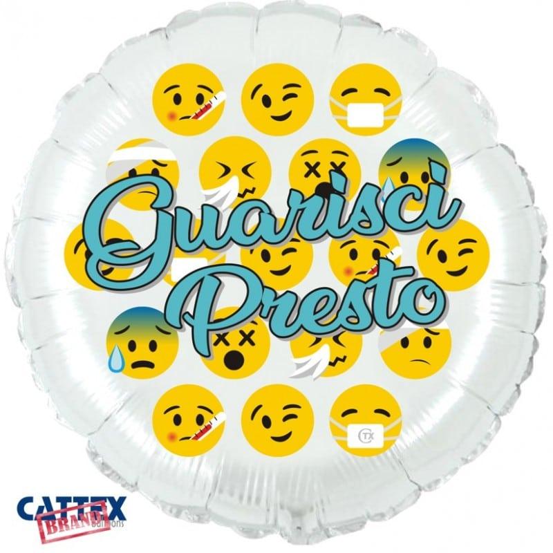 """Palloncini mylar vari Guarisci Presto Emoji (18"""")"""