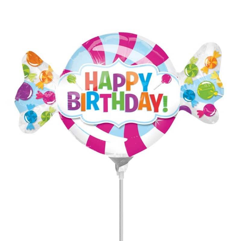 """Palloncini compleanno Happy Birthday Caramella Minishape (13"""")"""