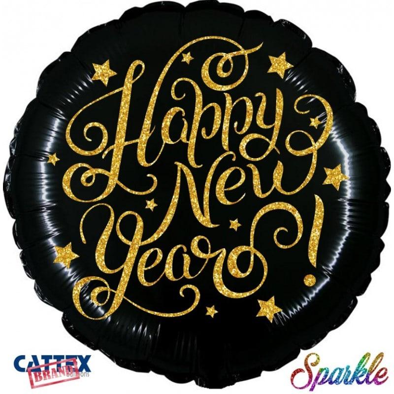 "Palloncini natalizi - happy new year sparkle (18"")"