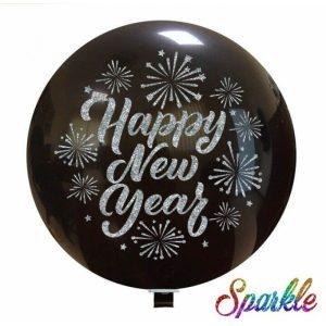 Palloncini natalizi - happy new year (sparkle)