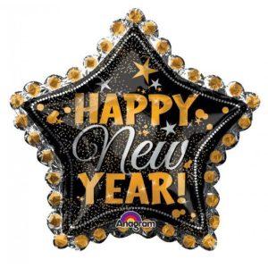 """Palloncini natalizi - happy new year stella xl® supershapes™ (36"""")"""