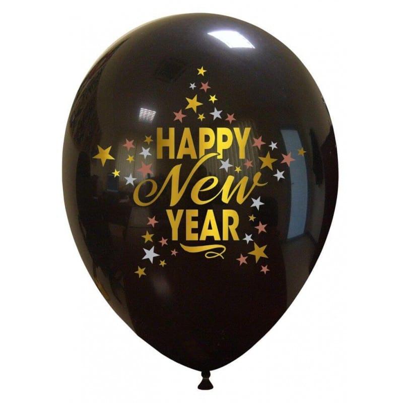 Palloncini natalizi - happy new year stelle (3 colori)