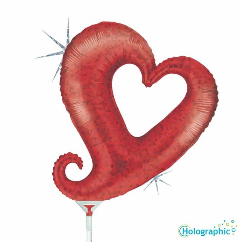 "Palloni Mylar Sagomati Hollow Heart - Hollow Heart Olografico (14"")"