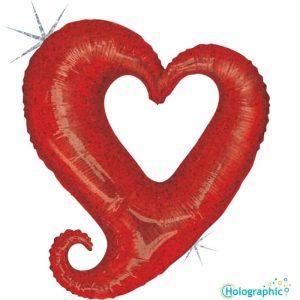 "Palloni Mylar Sagomati Hollow Heart - Hollow Heart Olografico (37"")"