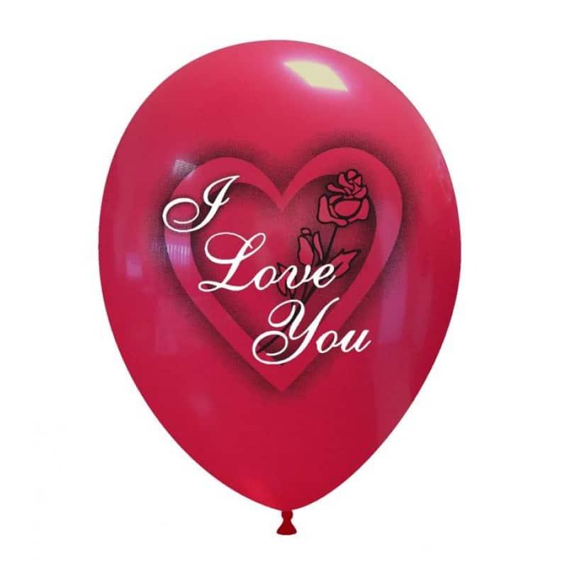 Palloncini amore - i love you rosa 2 colori