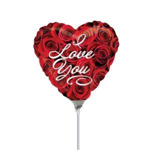"""Palloncini amore - i love you rose cuore minishape (9"""")"""