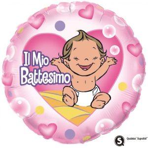 "Palloncini mylar religiosi Il mio Battesimo Bimba (18"")"