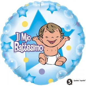 "Palloncini mylar religiosi Il mio Battesimo Bimbo (18"")"
