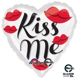 "Palloncini amore - kiss me cuore hexl® (18"")"