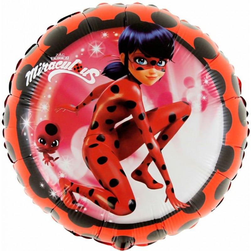 "Palloncini mylar Personaggi Ladybug - Miraculous (18"")"