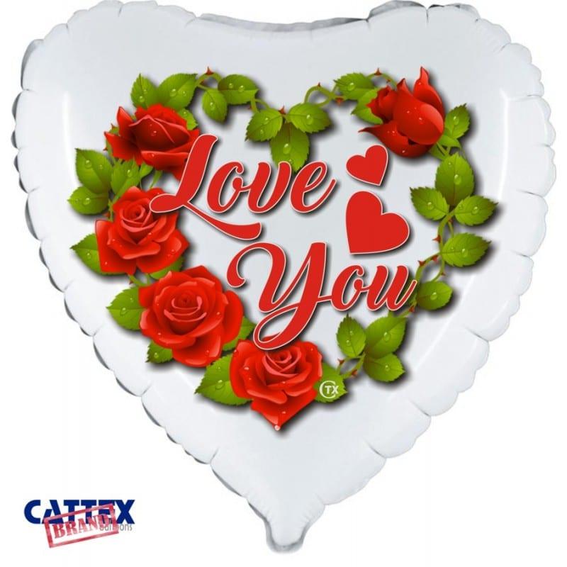 "Palloncini amore - love rose (18"")"