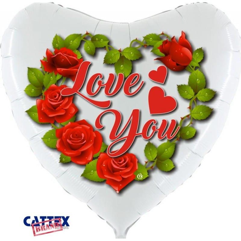 "Palloncini amore - love rose supershape (36"")"