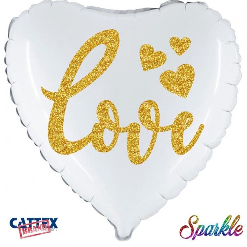 "Palloncini amore - love sparkle (18"")"