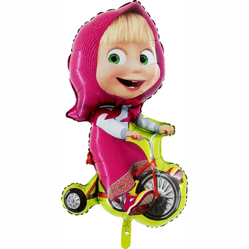 "Palloncini mylar Personaggi Masha Bicicletta SuperShape (39"")"