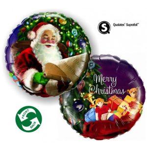 "Palloncini natalizi - merry christmas babbo natale (18"")"