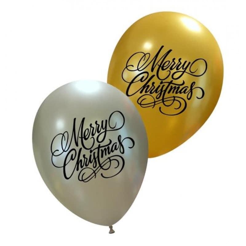 Palloncini natalizi - merry christmas elegante