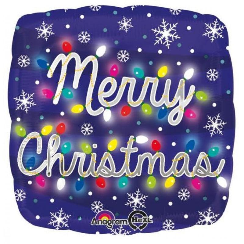 "Palloncini natalizi - merry christmas luci hexl® (18"")"