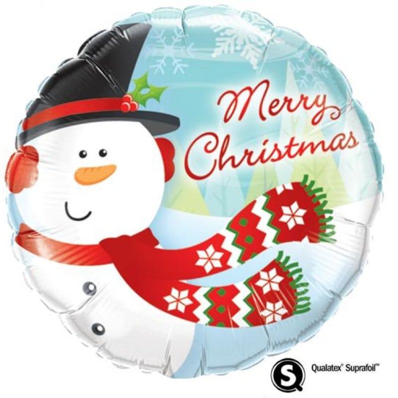 "Palloncini natalizi - merry christmas pupazzo (18"")"