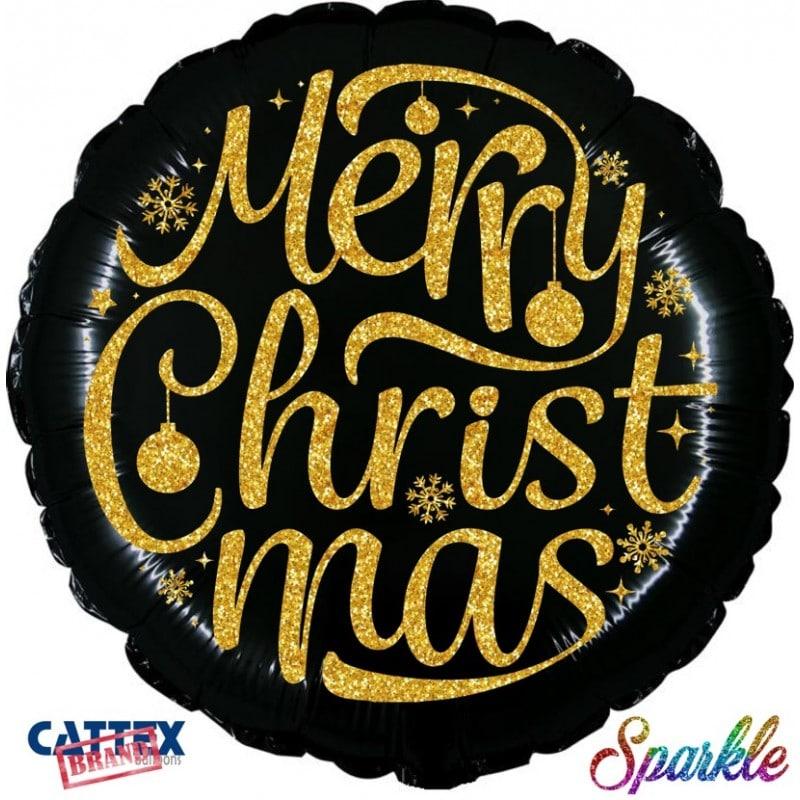 "Palloncini natalizi - merry christmas sparkle (18"")"