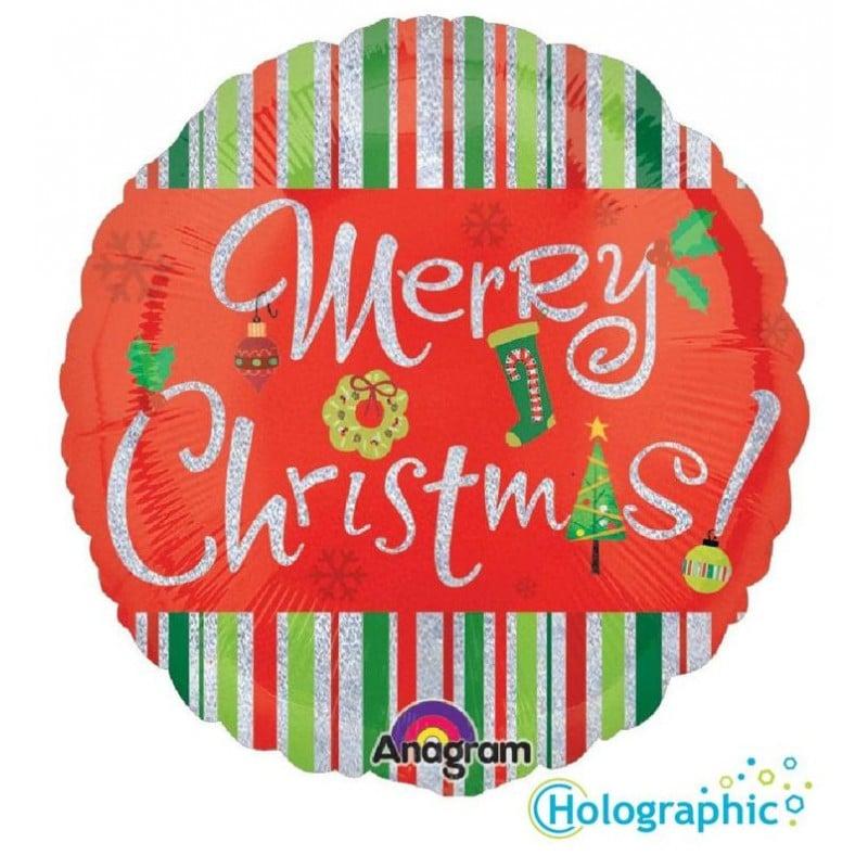 "Palloncini natalizi - merry christmas sparkles (18"")"