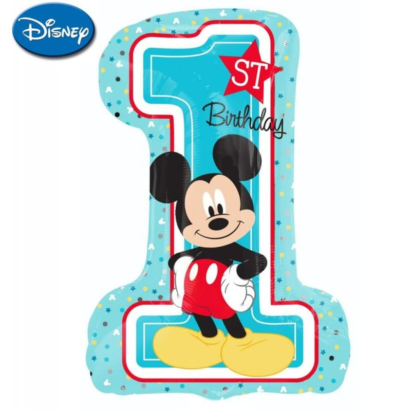 """Palloncini compleanno Mickey 1st Birthday XL® SuperShapes™ (35"""")"""