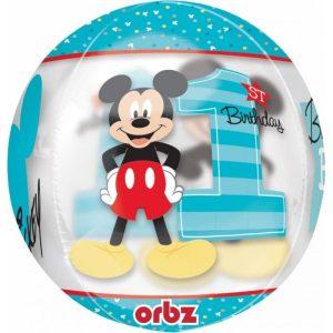"Palloncini mylar Orbz Mickey Primo Compleanno - Orbz (16"")"