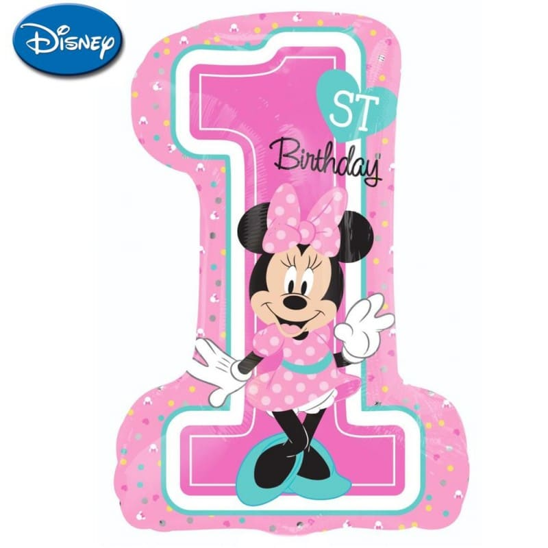 "Palloncini mylar Personaggi Minnie 1st Birthday XL® SuperShapes™ (35"")"