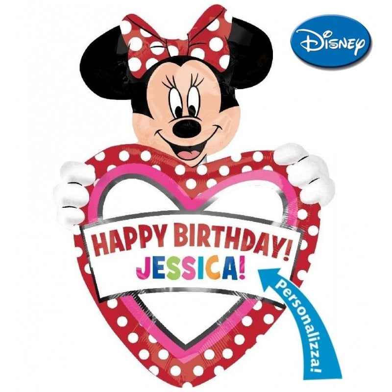 "Palloncini compleanno Minnie Birthday Personalizzabile XL® SuperShapes™ (39"")"