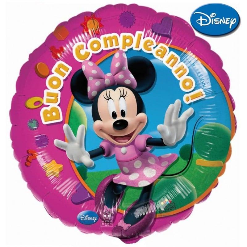 """Palloncini compleanno Minnie Buon Compleanno XL® (18"""")"""