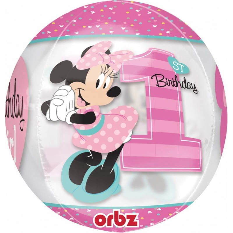 "Palloncini compleanno Minnie Mouse Primo Compleanno - Orbz (16"")"