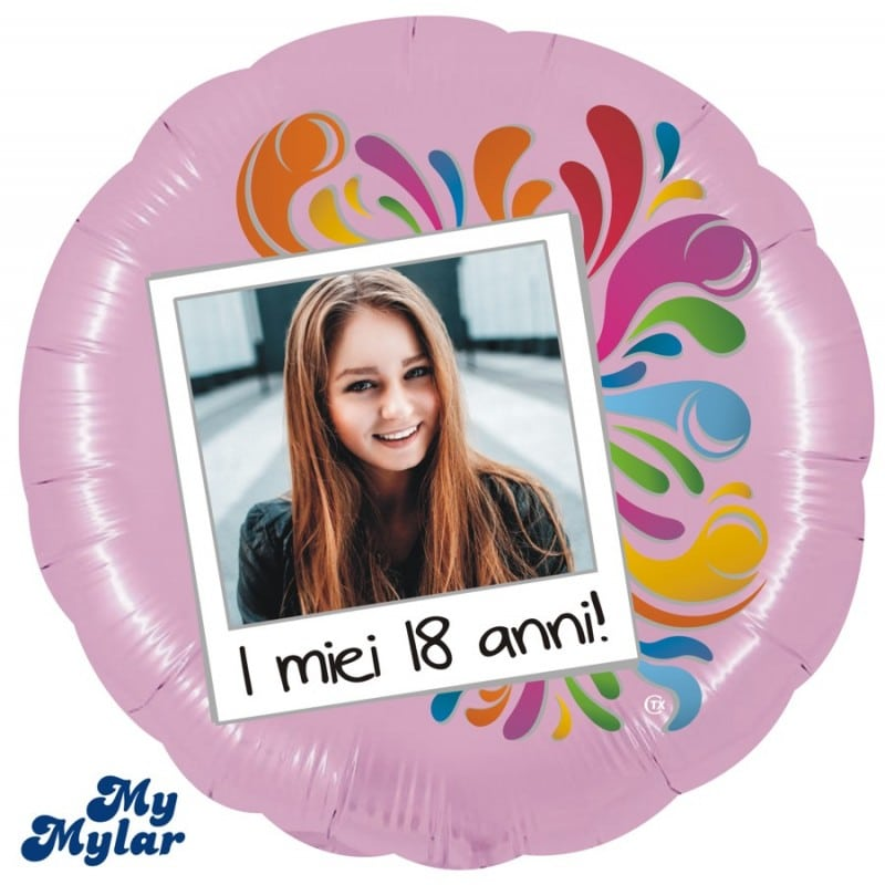"""Palloncini compleanno MyMylar - 18 Anni Foto Supershape (36"""")"""