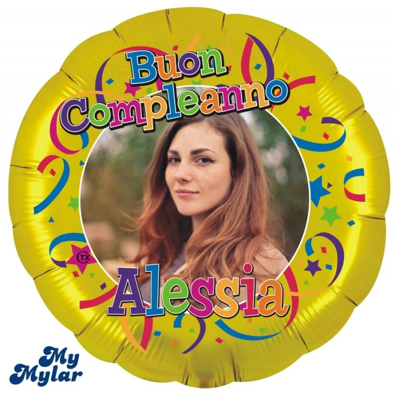 """Palloncini compleanno MyMylar - Buon Compleanno Foto Supershape (36"""")"""
