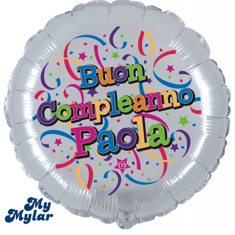 "Palloncini compleanno MyMylar - Buon Compleanno + Nome (18"")"