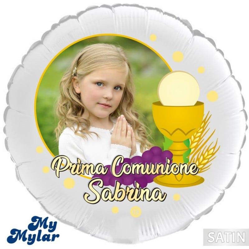 """Palloncini mylar religiosi MyMylar - Prima Comunione + Foto (18"""")"""