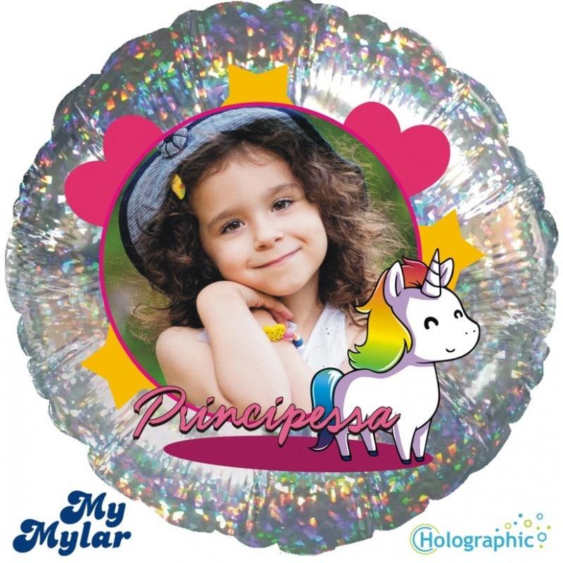 """Palloncini compleanno MyMylar - Unicorno Olografico Foto (18"""")"""