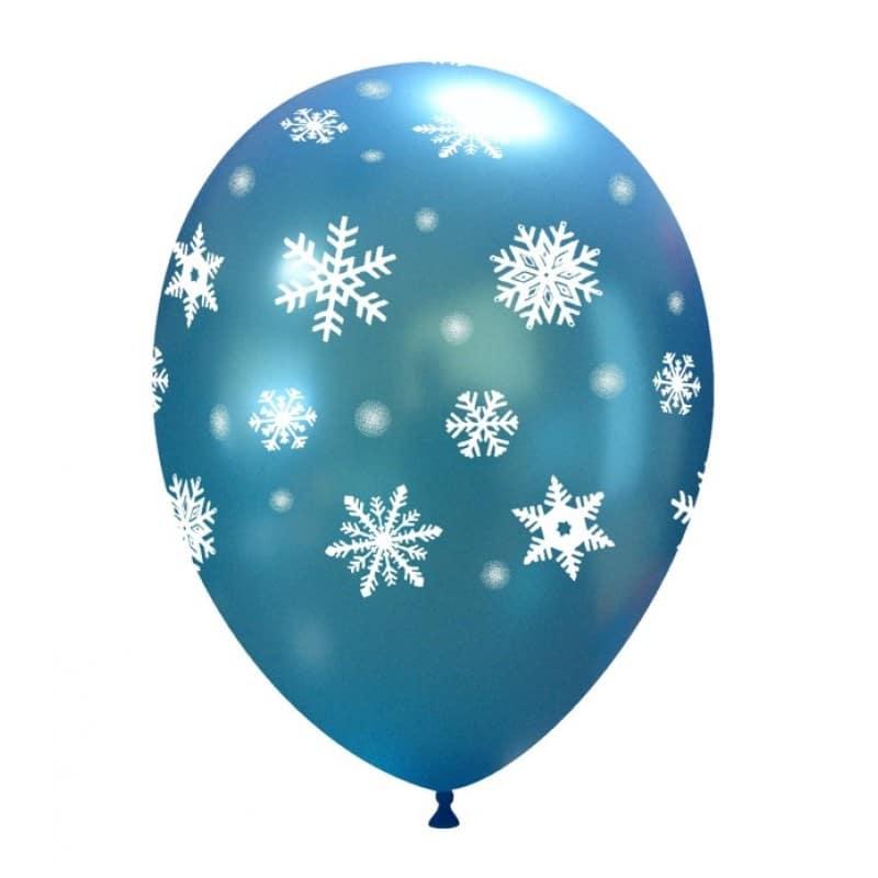 Palloncini fantasia fiocchi di neve ghiacciati