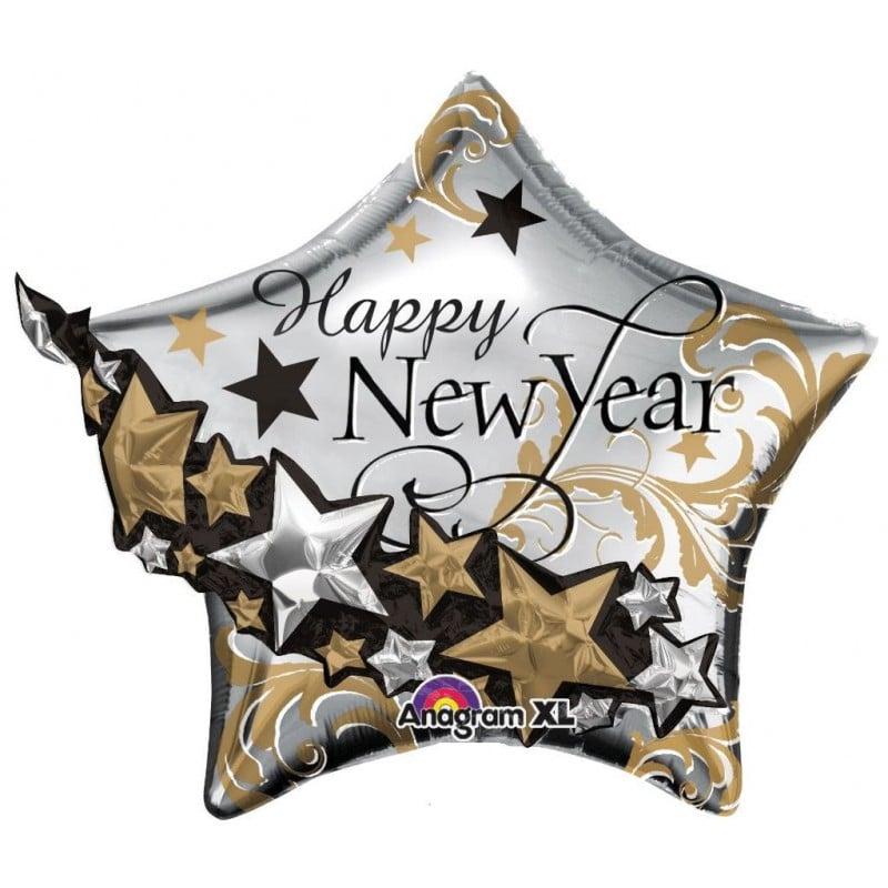 """Palloncini natalizi - new year 3d stella multi-balloon xl® (32"""")"""