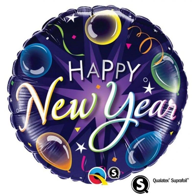 """Palloncini natalizi - new year colorato (18"""")"""