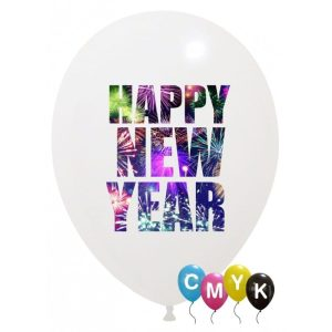 Palloncini natalizi - new year - full color (cmyk)