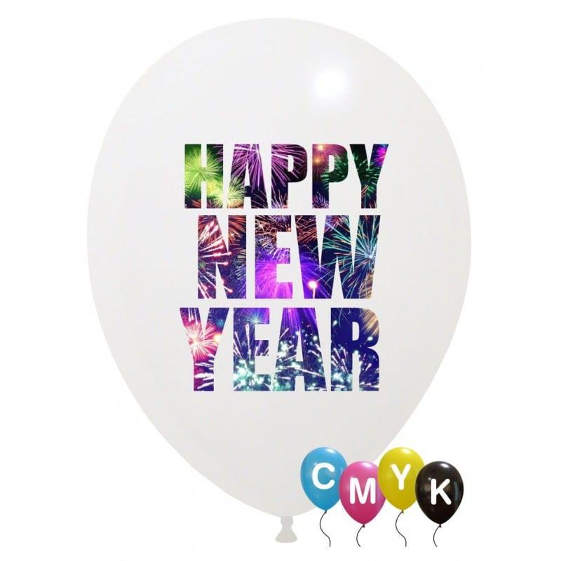 Palloncini natalizi - new year - full color (cmyk)