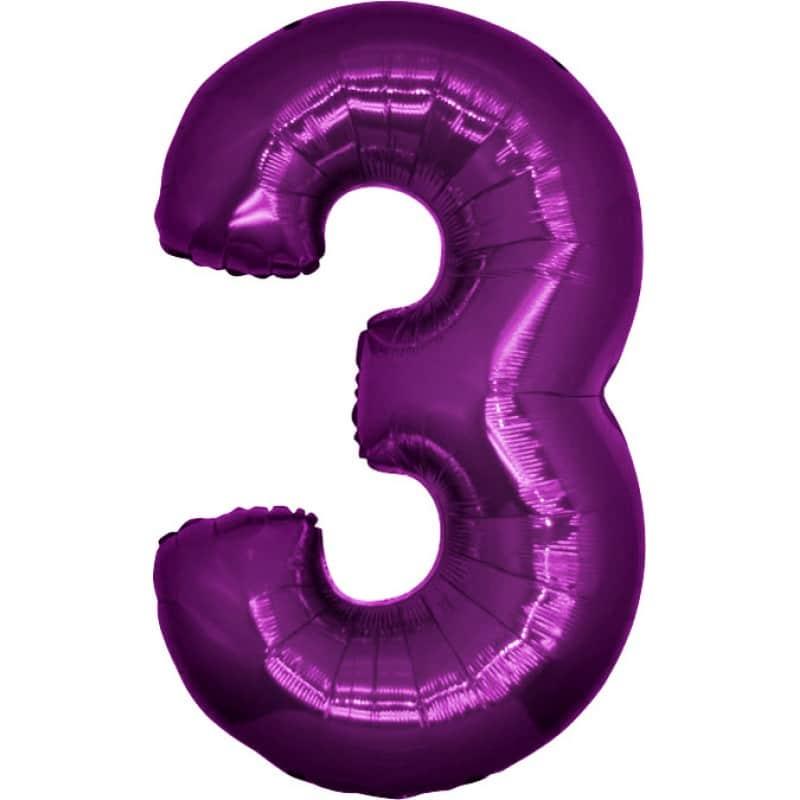 Palloncini numeri maxi - Numero 3
