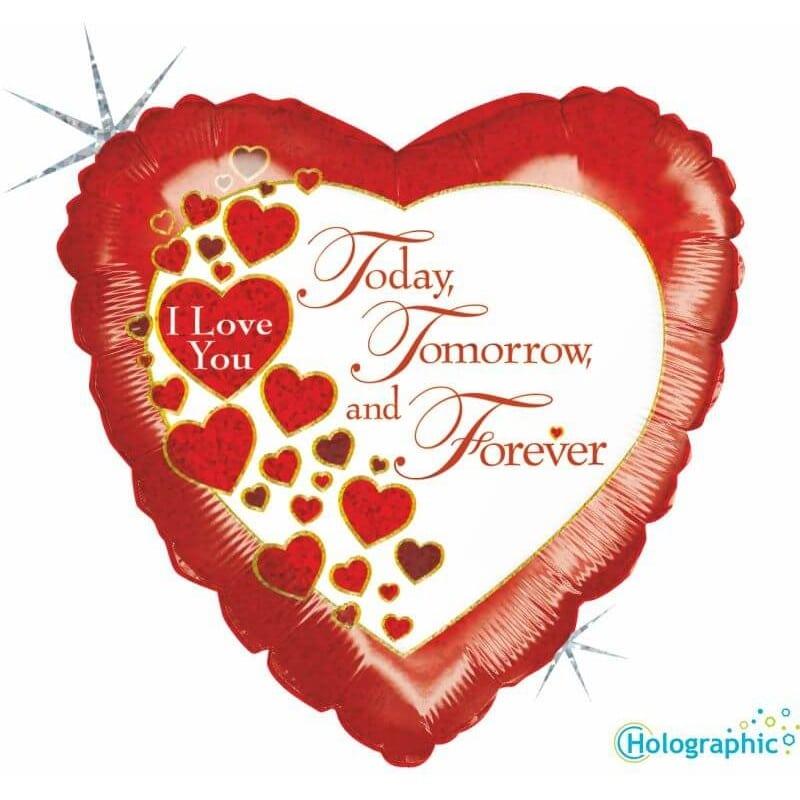 """Palloncini amore - oggi domani e per sempre (18"""")"""