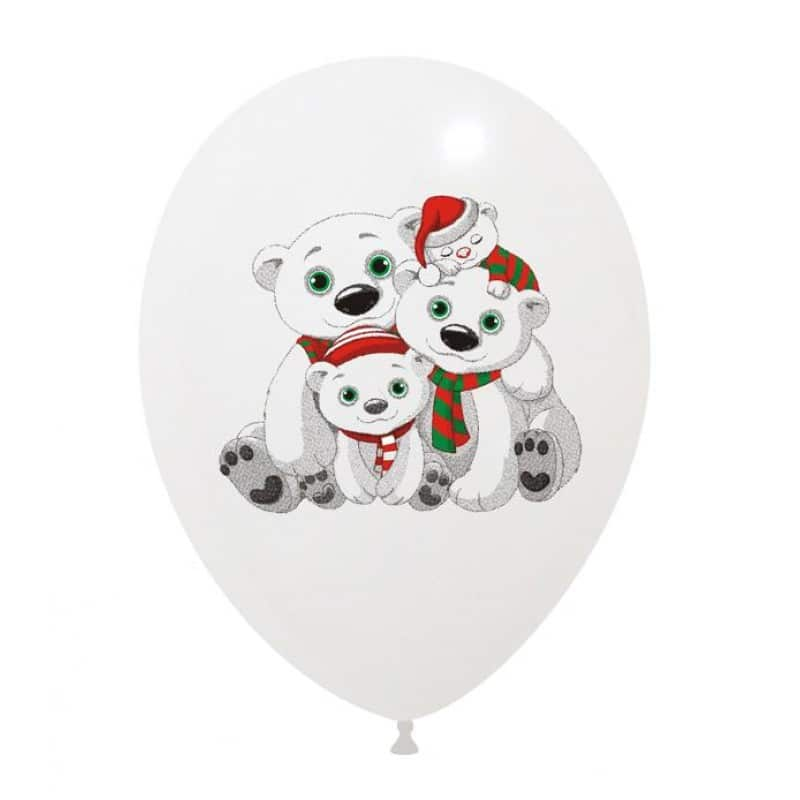 Palloncini natalizi - orsetti polari 3 colori