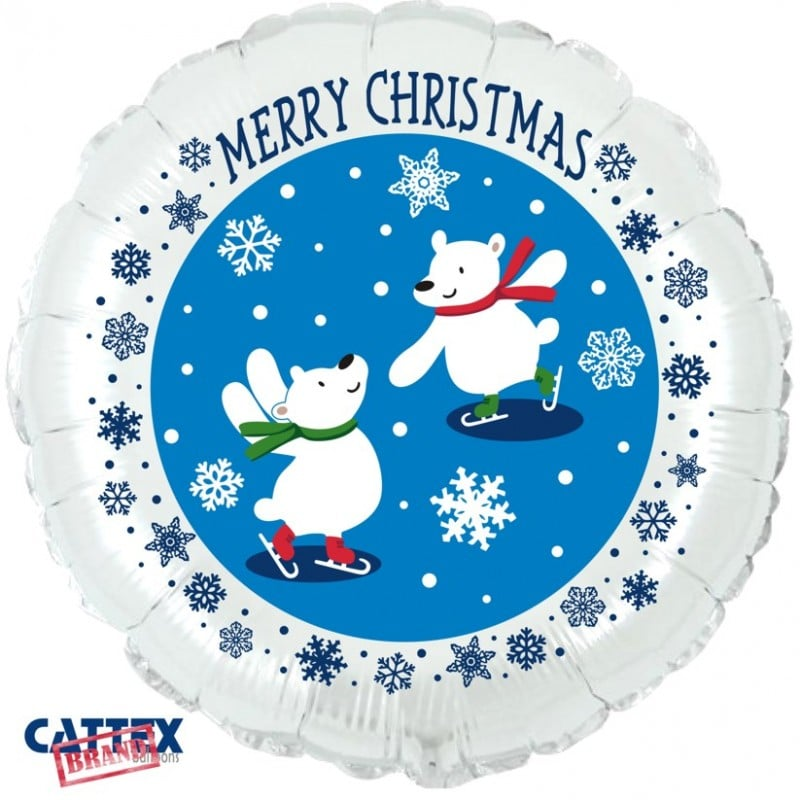 "Palloncini natalizi - orsetti polari christmas (18"")"